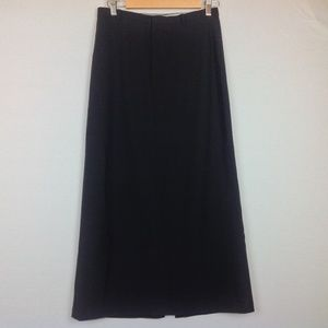 Gap Maxi Skirt Womens 6 Black Stretch Wool Blend